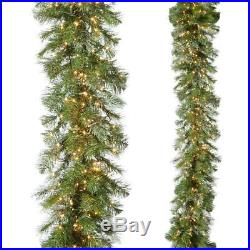 NEW Raz 9′ Compact LED Cluster Lighted Christmas Garland with Remote G3752023
