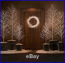 NEW Restoration Hardware Starlit Christmas Holiday Tree 9′ FOOT / SNOW WHITE