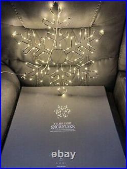 NEW Restoration Hardware Starry Light Snowflake LED Christmas Holiday 18′