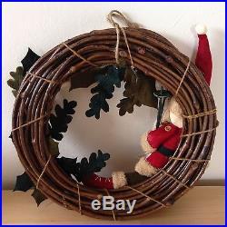 NEW Santa Christmas Door Wreath Holiday Home Decor