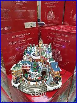 NEW Stunning Christmas LED Winter Village Scene Rotating Train Lights and Music