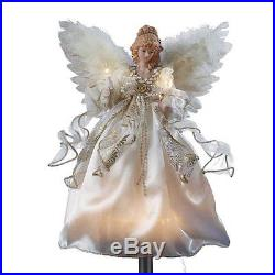 NEW TREETOP LIGHT ANGEL CHRISTMAS XMAS TREE DECOR 2015 STAR WHITE GOLD