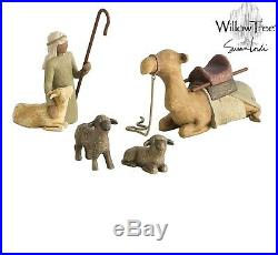 NEW Willow Tree Christmas Nativity Set Shepherd and Stable Animals