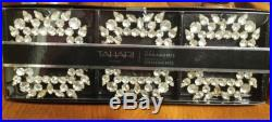 NEW in Box TAHARI Home Set of 3 Picture Frame Ornaments with Crystals/Rhinestone