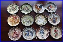 NEW set/12 2016 Pottery Barn 12 Days of Christmas salad dessert plates twelve