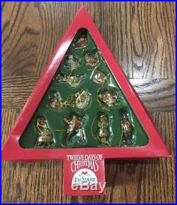 NIB 2006 Jim Shore Twelve Days Of Christmas Miniature Ornaments Enesco