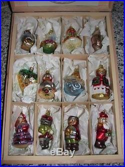 Nib Inge Glas 12 Twelve Days Of Christmas German Glass