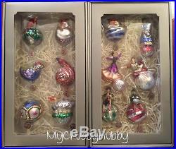 NIB Pottery Barn 12 DAYS of CHRISTMAS Ornament SET CHRISTMAS Twelve HOLIDAY