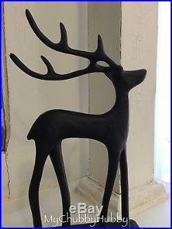NIB Pottery Barn Set of 6 SANTA'S REINDEER Stocking Holders CHRISTMAS Sleigh