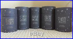 NIB Restoration Hardware Outdoor Party Christmas Lights LOT OF 5 Retail $416