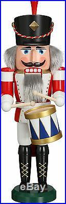 NUßKNACKER Trommler NEU Erzgebirge Seiffen Volkskunst Original Weihnacht 39cm