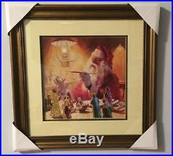 NWT Christmas Santa Angels Saints Art Gallery Painting Wall Frame Rare Holiday