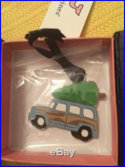 NWT New Vineyard Vines Woody and Christmas Tree Metal Ornament WithWhale Box