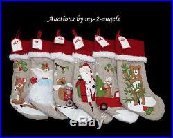 NWT Pottery Barn Kids Christmas WOODLAND Stockings YOU PICK 4 NO MONOGRAM