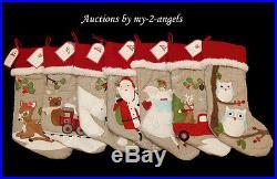 NWT Pottery Barn Kids Christmas WOODLAND Stockings YOU PICK 5 NO MONOGRAM