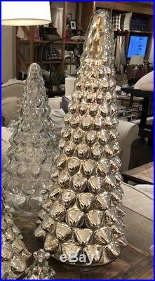 NWT Pottery Barn S/4 MERCURY GLASS TREE LARGE Medium SMALL & Mini CHRISTMAS