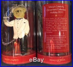 NWT RALPH LAUREN POLO MACYS CELEBRITY TEDDY BEAR ORNAMENT 2011 COLLECTABLE