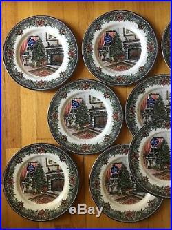 NWT Set of 12 Royal Stafford Christmas Tree Dinner Plates
