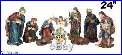 Nacimiento / Nativity Set SCULPTURE Complete 24 Inch Brand New 11 Pcs