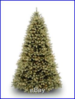 National Tree 7 1/2' Downswept Douglas Fir Christmas Tree Hinged 750 Clear Light