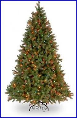 National Tree 7 1/2′ Feel-Real Downswept Douglas Fir Tree, Hinged, 750 Lights