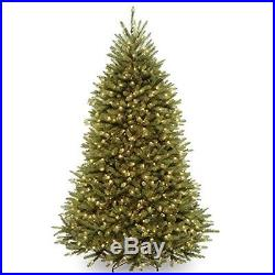 National Tree 7.5Feet Dunhill FIR TREE, 750 Clear Lights Hinged CHRISTMAS TREE