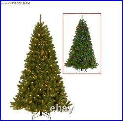 National Tree Co. 7.5′ North Valley Spruce Tree with Dual Color LED Lights