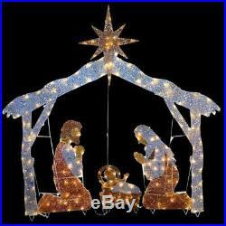 Nativity Scene Clear Lights 72 in. Pre Lit Lighting Indoor Outdoor Christmas