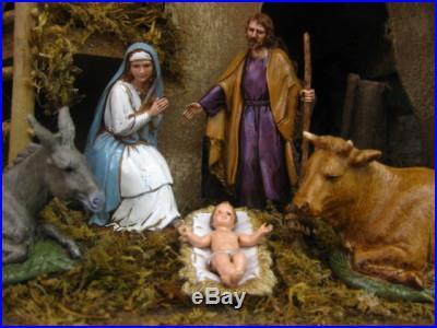 Nativity Set Pesebre Presepio Creche Manger Scene 3.5 Figurines Landi Italy