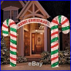 New 10' W Lighted MERRY CHRISTMAS Holiday CANDY CANE ARCHWAY Outdoor Yard Decor