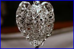 New 16 PCS Spun Glass Heart Shaped Christmas Ornaments Wedding