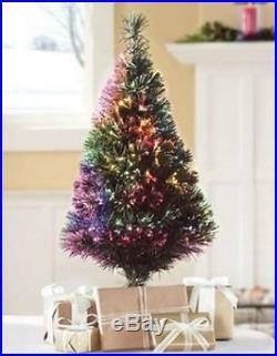 New 32 Green Fiber Optic Christmas Tree LED Color Changing Christmas Decor