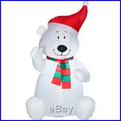 New 3.5ft Airblown Polar Bear Christmas Inflatable LED Christmas Yard Decor
