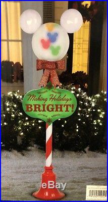 New 5FT Disney Mickey Mouse Whirl Projection Lamp Post Christmas Color LED Light