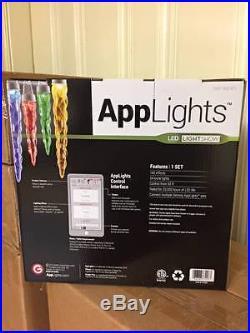 New AppLights 24-Light Multi-Color Icicle String Light Set (3 Sets/72 Lights)
