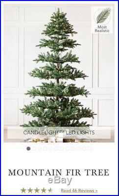 New Balsam Hill Mountain Fir Artificial Christmas Tree 6.5 Pre-lit
