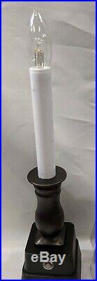 New Bethlehem Lights Set of 12 Battery Powered Brushed Bronze Candle