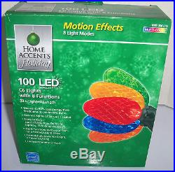 New Christmas 100 Light LED Multi-Color Faceted C6 Lights with 8 Functions