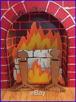 New Christmas Cardboard Fireplace Decoration Standee W