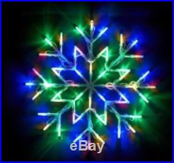 New Christmas Led Snow Flake Window Multi Colour Light