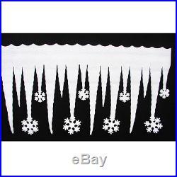 New Christmas White Snowflake Ice Strip Xmas Decoration Ornament Festival Party