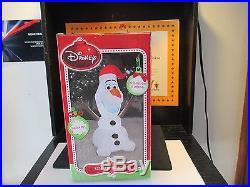 New Disney 3.5' Inflatable Olaf white LED light Christmas Decoration