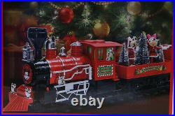 New Disney Mickey Mouse Holiday Express 36 Pc Collectors Christmas Train Set