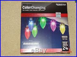 New GEMMY Light Show Set of 24 Color Changing LED Christmas Lights