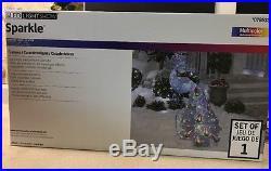 New Gemmy Lightshow 4.3′ Christmas Decor LED Lights Sparkle Snowflakes Peacock