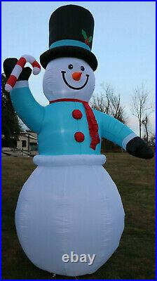 New Giant Airblown Inflatable 12′ Snowman Gemmy Christmas Yard Frosty Blow Up
