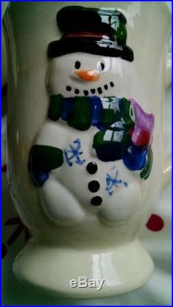 New Holiday Mugs Gift Box Set of 4 Cups Penguin Reindeer Santa Snowman Christmas