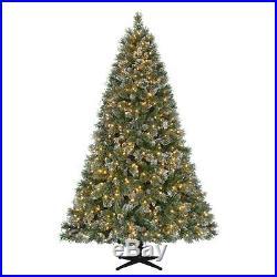 New Martha Stewart 7.5′ Pre-Lit LED Sparkling Pine Christmas Tree Warm White