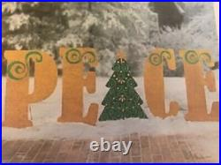 New Peace Sign Christmas Holiday Indoor Outdoor Yard Decoration