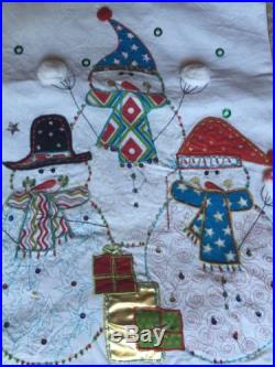 New Pier 1 Table Runner Snowman Candy Canes Christmas Holiday